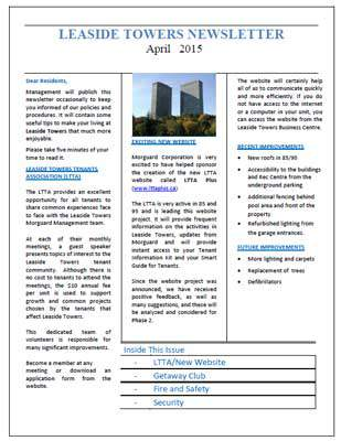 Morguard Newsletter April 2015