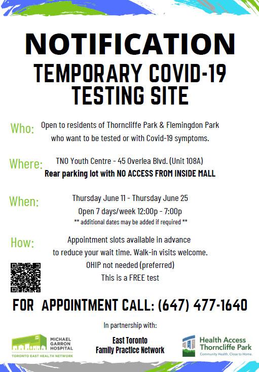 Temporary-Testing-Site-Info